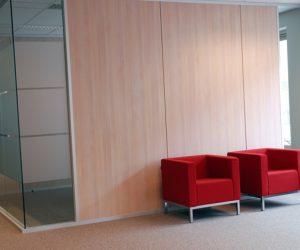 Agencement bureaux hall d'entrée